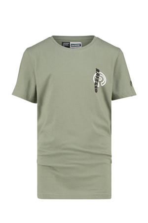 T-shirt Hamilton met logo olijfgroen
