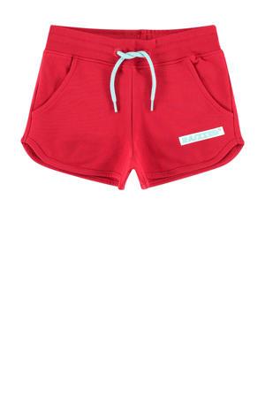 sweatshort Auston met logo rood