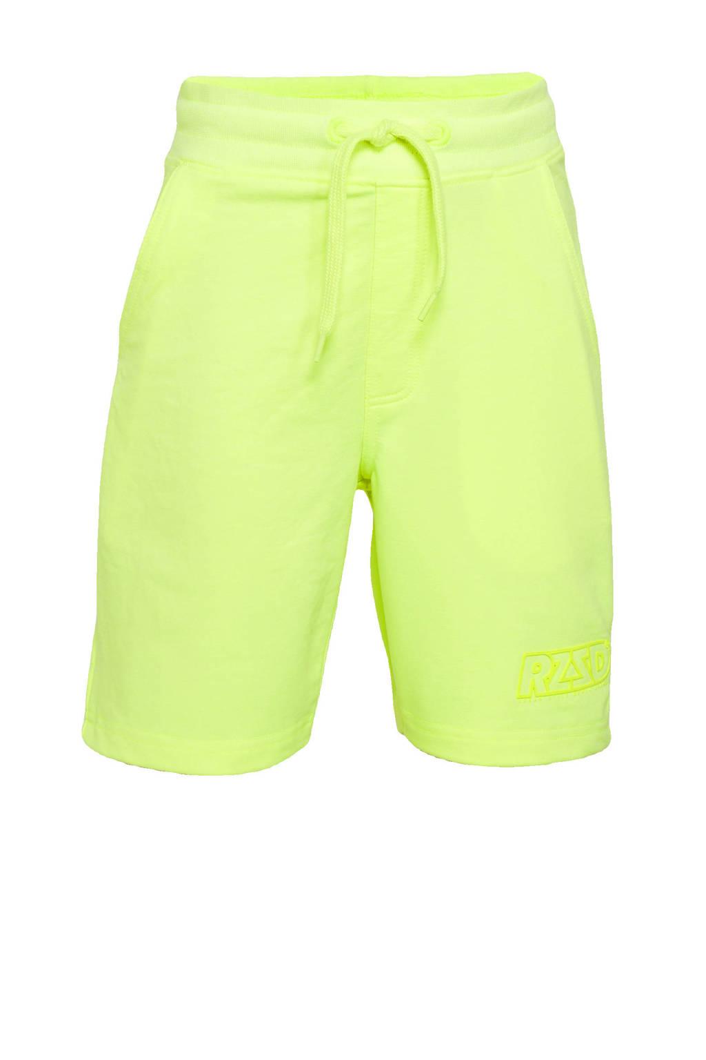 Raizzed sweatshort Rome neon geel, Neon geel