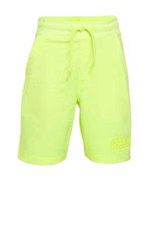 sweatshort Rome neon geel