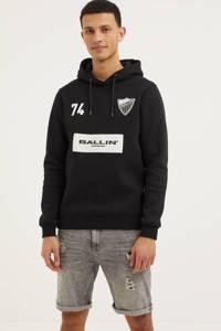 Ballin hoodie met logo zwart, Zwart