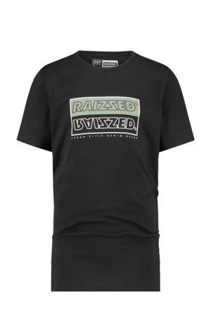 T-shirt Hadano met logo zwart