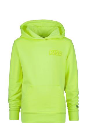 hoodie Natal met logo neon geel