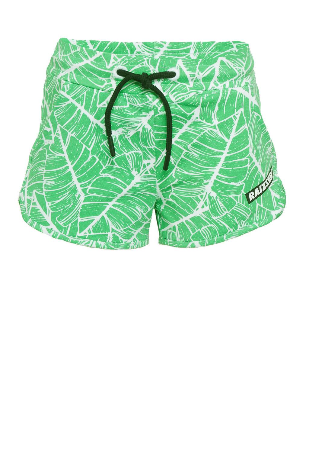 Raizzed sweatshort Auston met logo fris groen, Fris groen