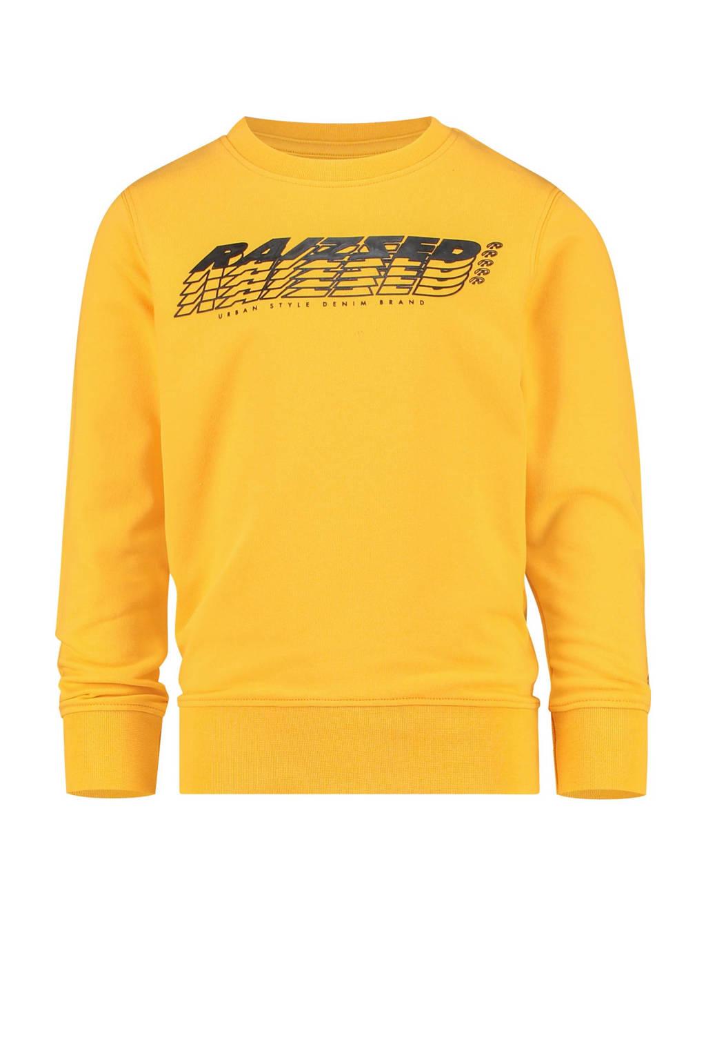 Raizzed sweater Nagahama met logo honinggeel, Honinggeel