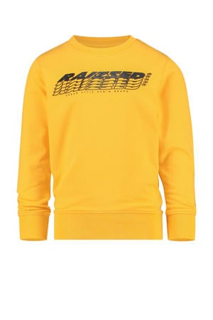 sweater Nagahama met logo honinggeel