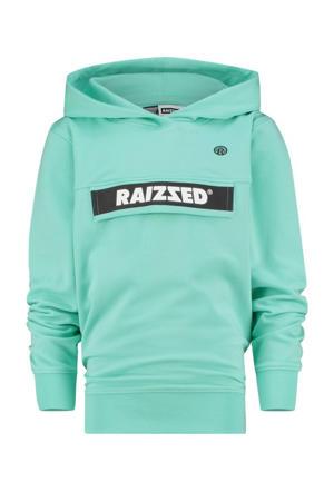 hoodie Norwich met logo mintgroen