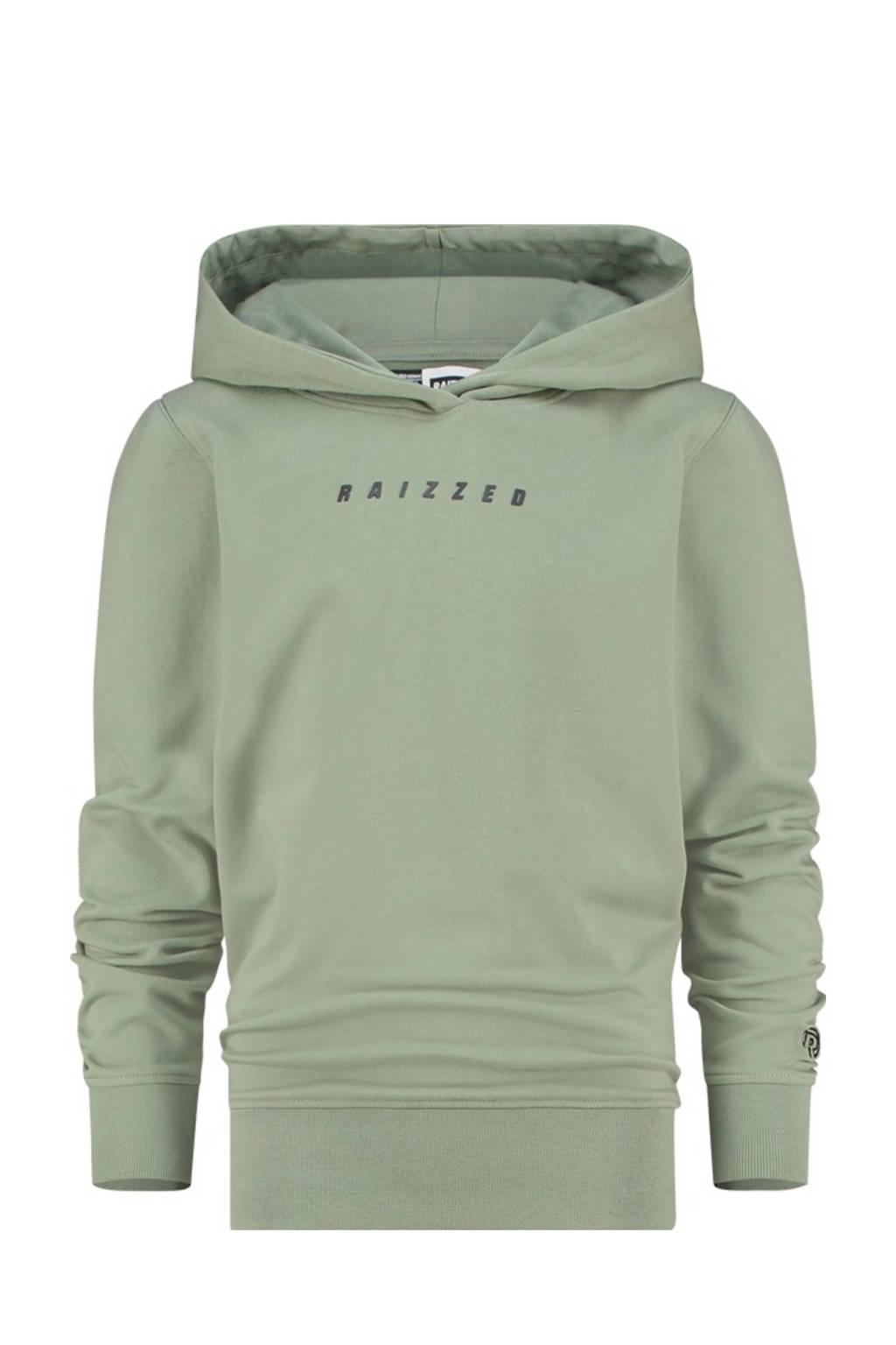 Raizzed hoodie New Castle met printopdruk olijfgroen, Olijfgroen