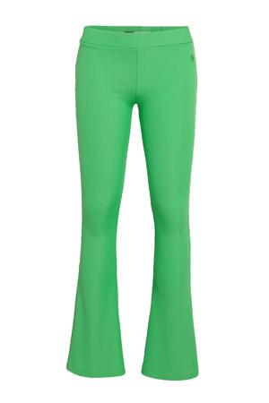 gestreepte flared broek Porto fris groen
