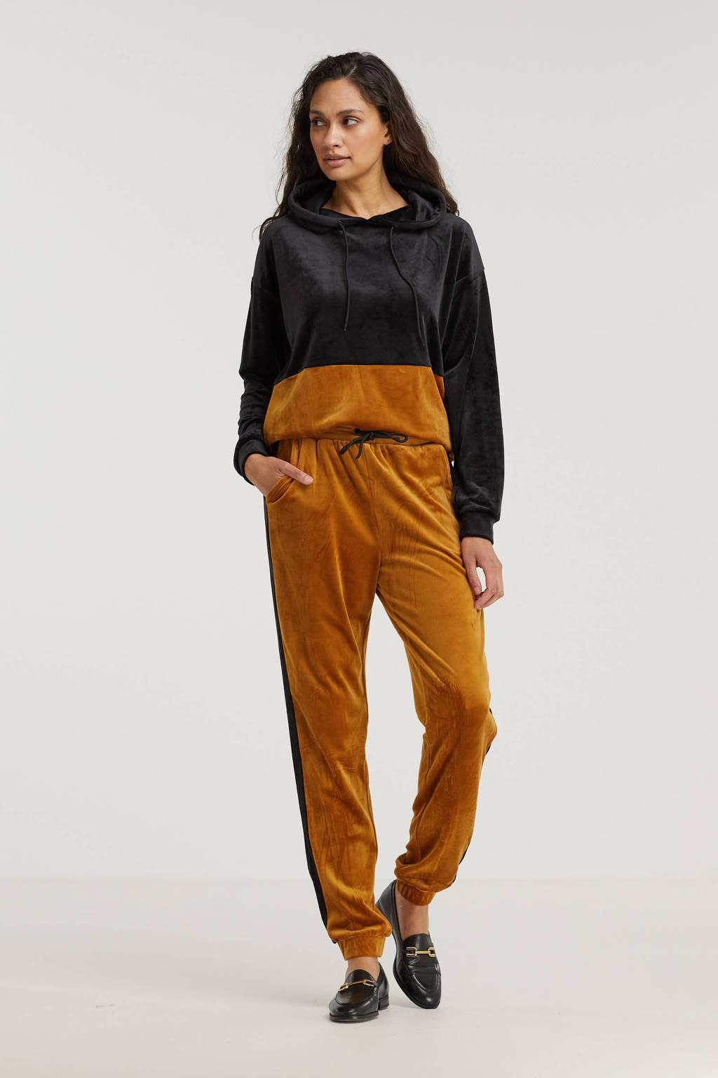 Cars hoodie Daniella zwart/oranje, Zwart/oranje