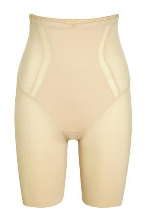 high waist corrigerende short beige