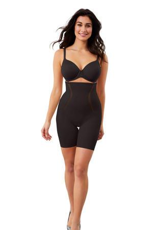 high waist corrigerende short zwart