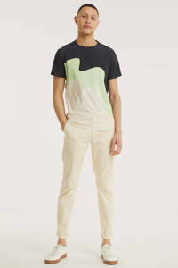 Kultivate T-shirt van biologisch katoen ecru/zwart, Ecru/zwart