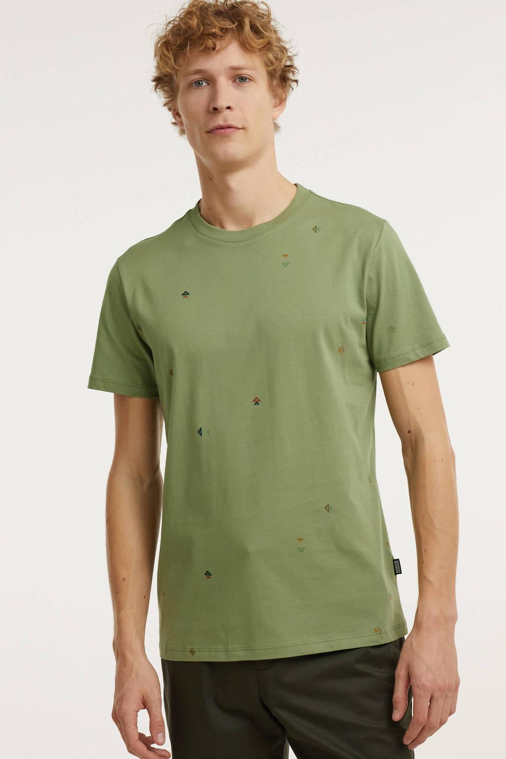 Kultivate T-shirt van biologisch katoen groen, Groen