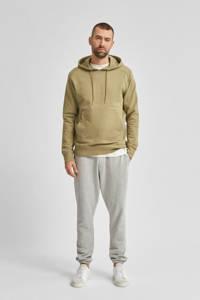 SELECTED HOMME hoodie van biologisch katoen lichtgroen, Lichtgroen