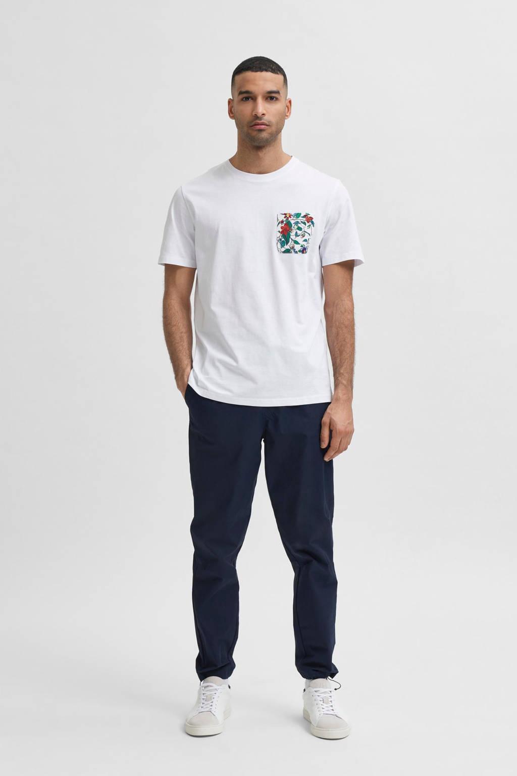 SELECTED HOMME T-shirt van biologisch katoen wit, Wit