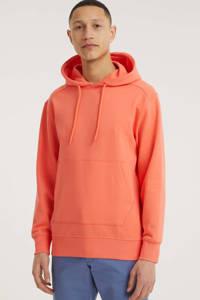 SELECTED HOMME hoodie Jackson van biologisch katoen oranje, Oranje