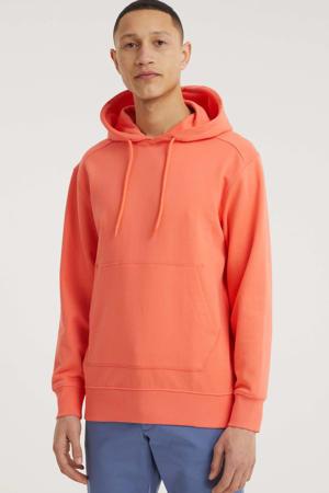 hoodie Jackson van biologisch katoen oranje