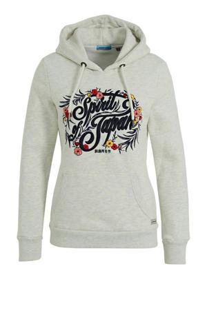 hoodie met logo lichtgrijs