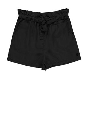 high waist straight fit short Baya 01 black