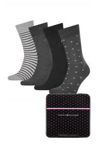 Tommy Hilfiger giftbox sokken - set van 4 zwart, Zwart