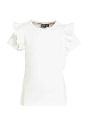 T-shirt met biologisch katoen ecru