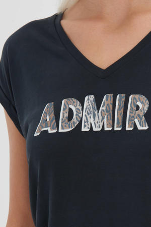 T-shirt Admire met tekst zwart