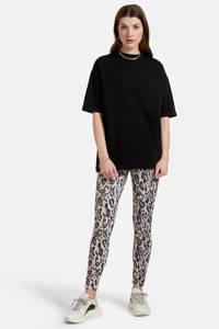 Eksept by Shoeby T-shirt Arky zwart oversized fit, Zwart