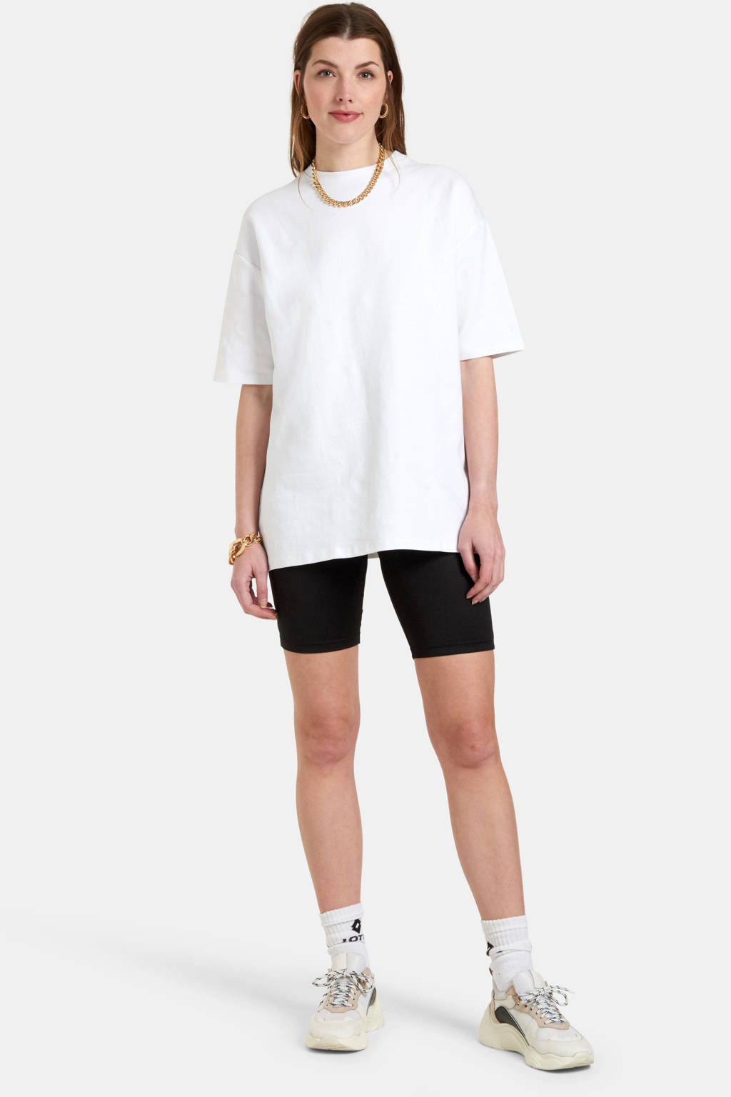 Eksept by Shoeby T-shirt Arky wit oversized fit, Wit