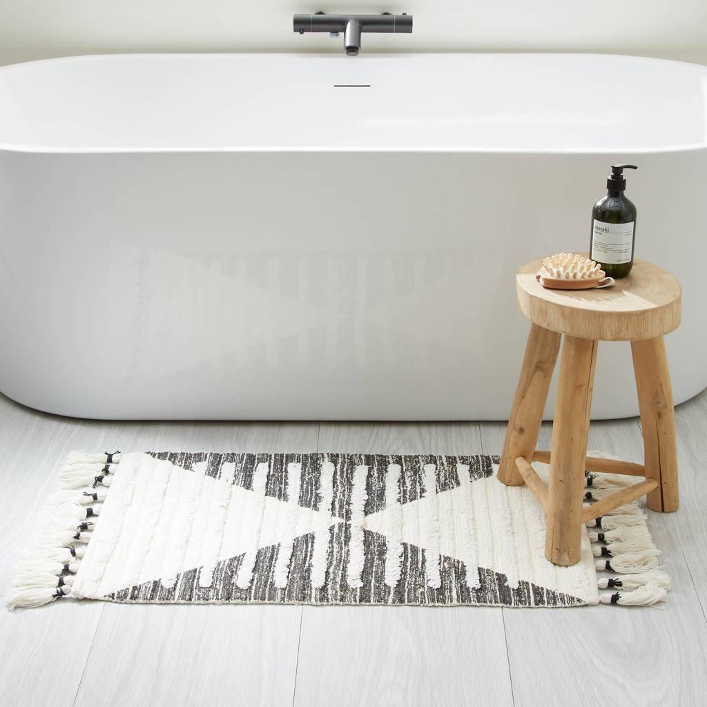 wehkamp home badmat (80 x 50 cm), Ecru, zwart