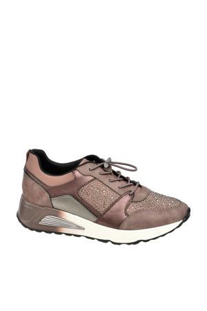 sneakers met strass steentjes brons