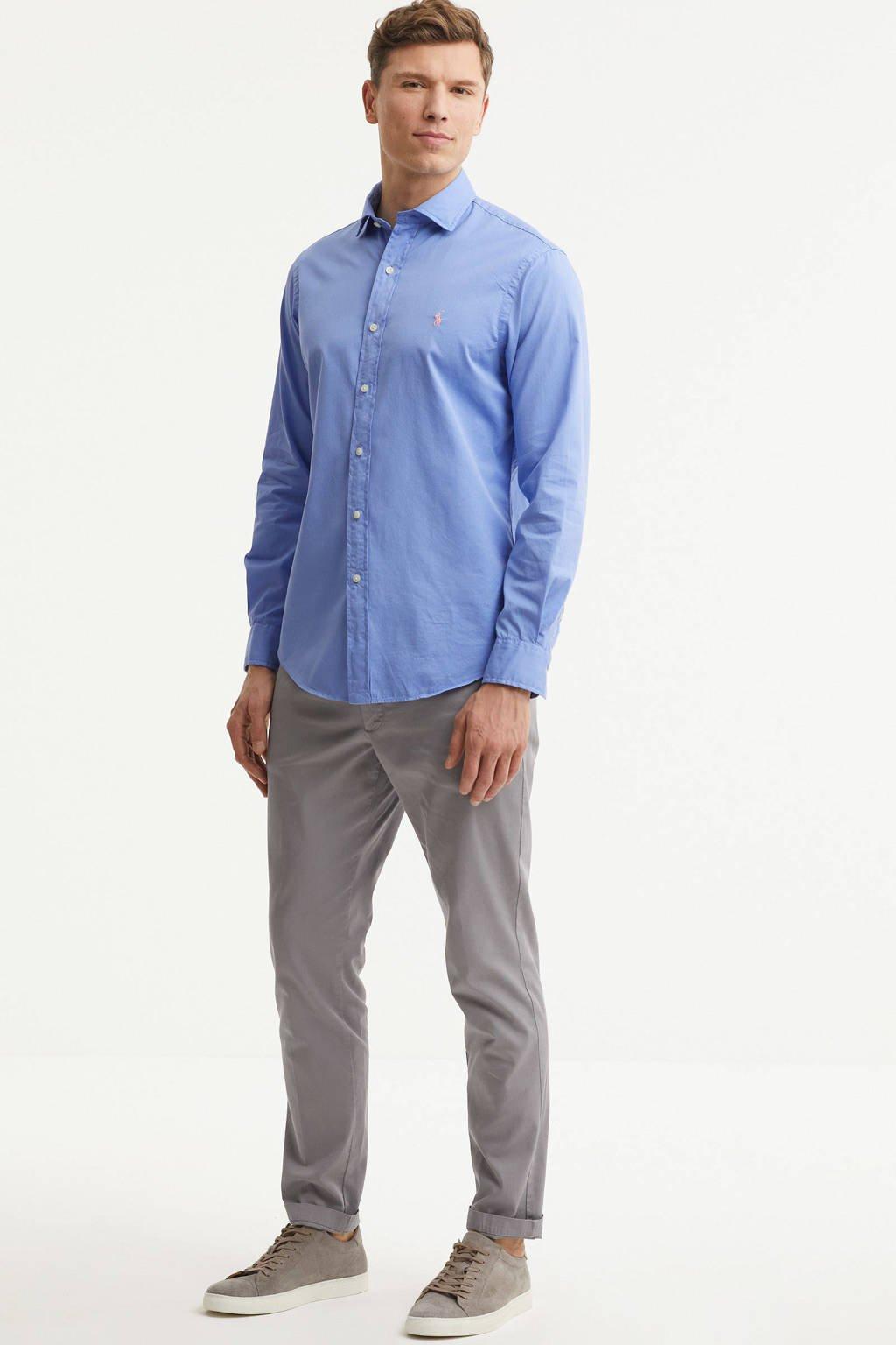 POLO Ralph Lauren regular fit overhemd blauw, Blauw