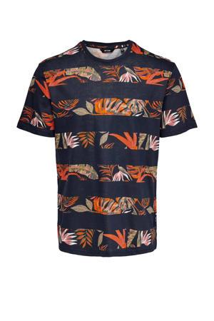 gestreept T-shirt van biologisch katoen donkerblauw