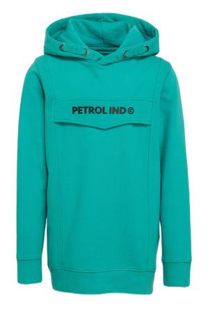 hoodie met logo zeegroen