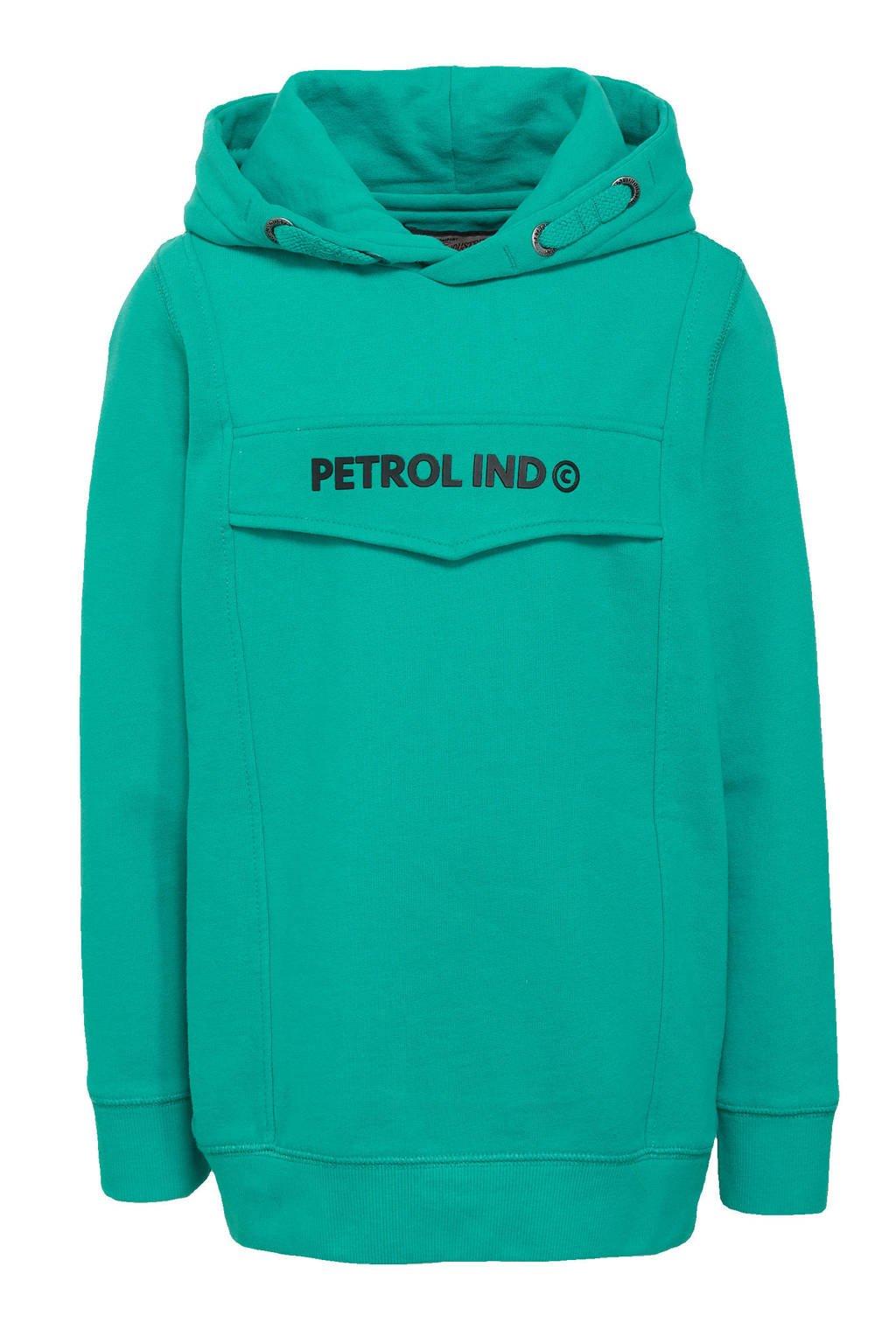 Petrol Industries hoodie met logo zeegroen, Zeegroen