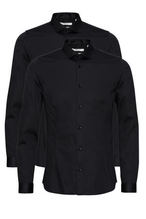 slim fit overhemd JPRBLAPARMA zwart