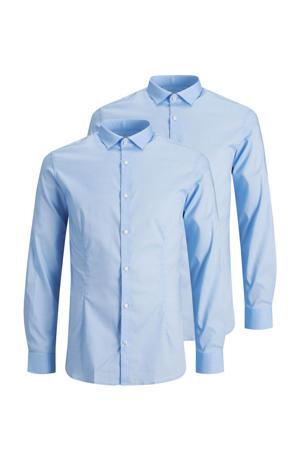 slim fit overhemd JPRBLAPARMA blauw