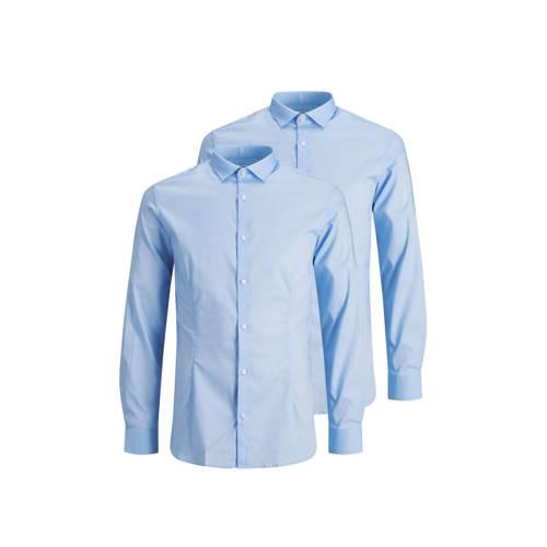 JACK & JONES PREMIUM overhemd (set van 2) blauw