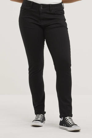low waist slim fit jeans Vivien black to black