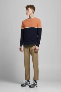 JACK & JONES ORIGINALS trui Breeze oranje/zwart, Oranje/zwart