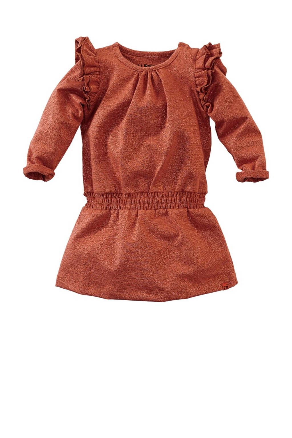 Z8 jurk Celia met glitters brique, Brique