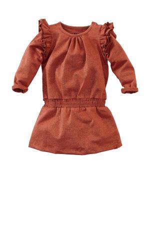 jurk Celia met glitters brique