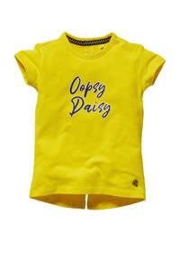 Quapi Mini T-shirt Ghis met tekst geel, Geel