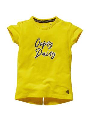 T-shirt Ghis met tekst geel