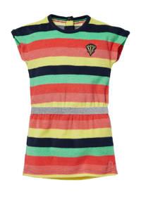 Quapi Mini gestreepte badstof jurk Geri groen/multicolor, Groen/multicolor