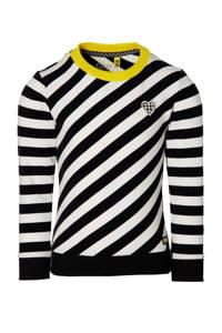 Quapi Girls gestreepte sweater Fenna zwart/wit, Zwart/wit