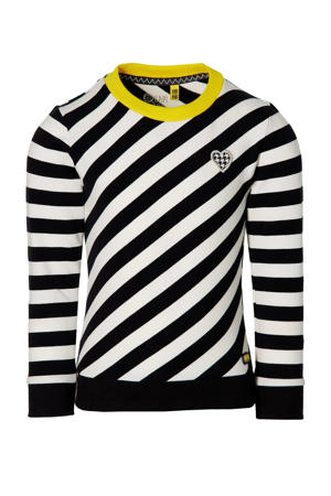 gestreepte sweater Fenna zwart/wit