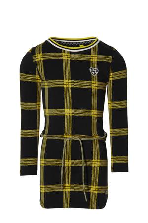 geruite jurk Fanne zwart/geel
