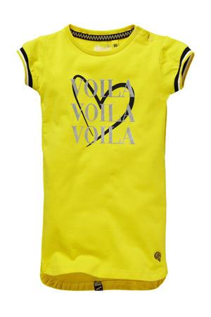 T-shirtjurk Gabi met printopdruk geel