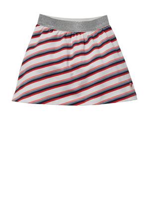 gestreepte rok Gilka wit/rood/blauw